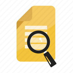 document, file, magnifier, read, reference, search, text icon