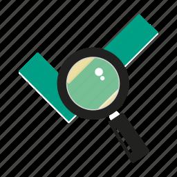 check, magnifier, mark, search, successful, verify, zoom icon