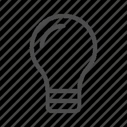business, idea, light, on icon