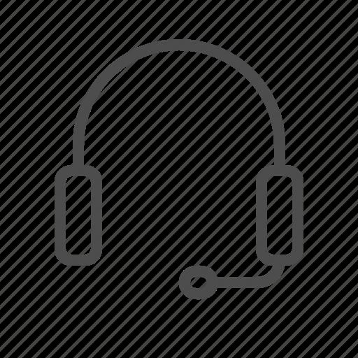 audio, customer service, headphone, service icon