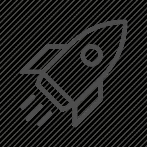 launching, rocket, start, up icon