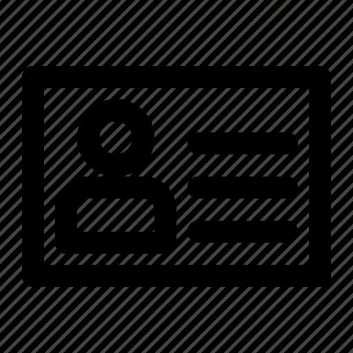 business, identity, partner, profile, user, work icon