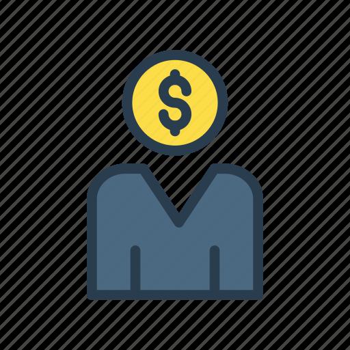 account, avater, dollar, profile, user icon