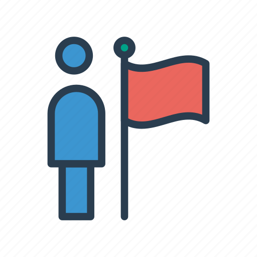 achievement, flag, goal, success, user icon