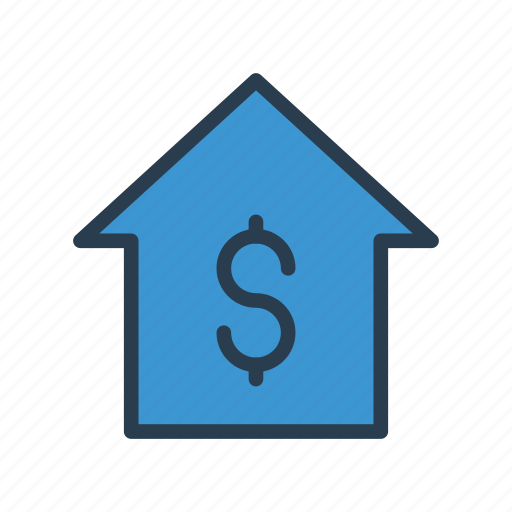 bank, building, finance, money, property icon