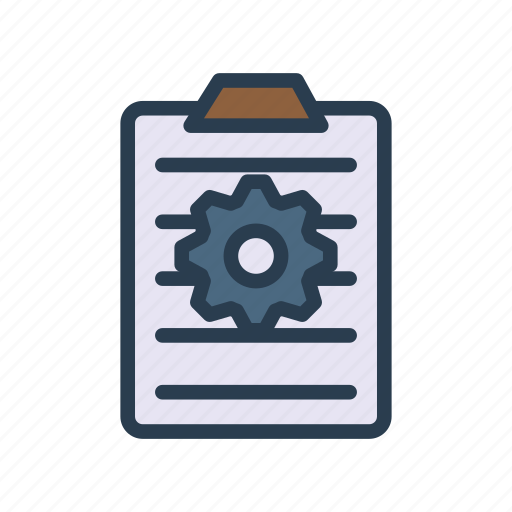 Clipboard, configuration, document, page, setting icon - Download on Iconfinder
