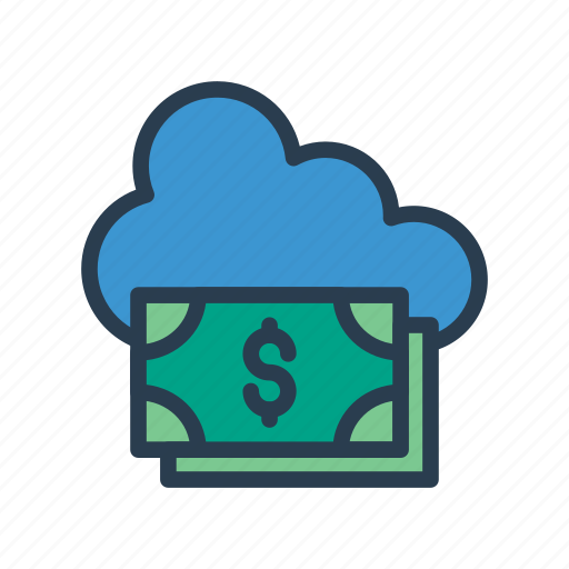 Cloud, currency, dollar, money, server icon - Download on Iconfinder