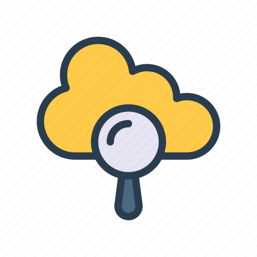 Cloud, find, magnifier, search, server icon - Download on Iconfinder