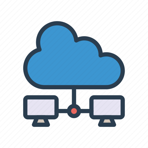 cloud, connection, network, server, sharing icon
