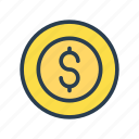 cash, coin, dollar, money, saving icon