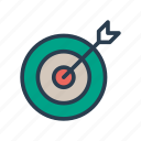 achivement, dartboard, goal, success, target icon