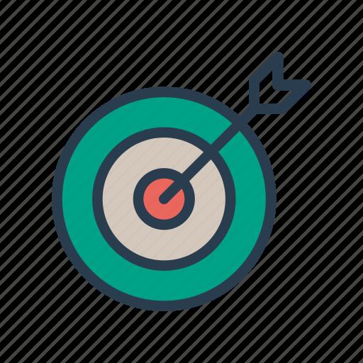 achivement, dartboard, goal, success, target icon