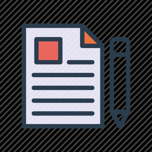 create, edit, file, new, pencil icon