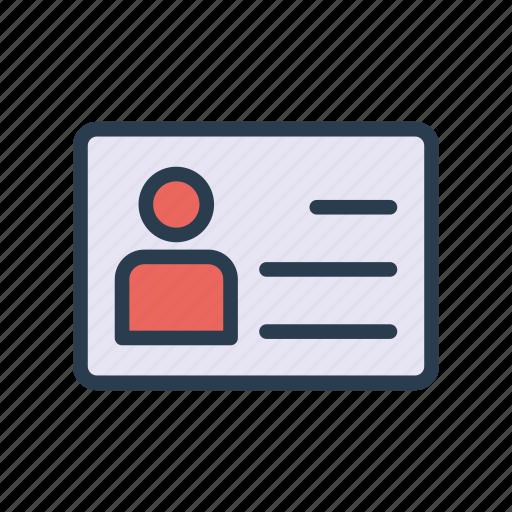 card, employee, id, identity, profile icon