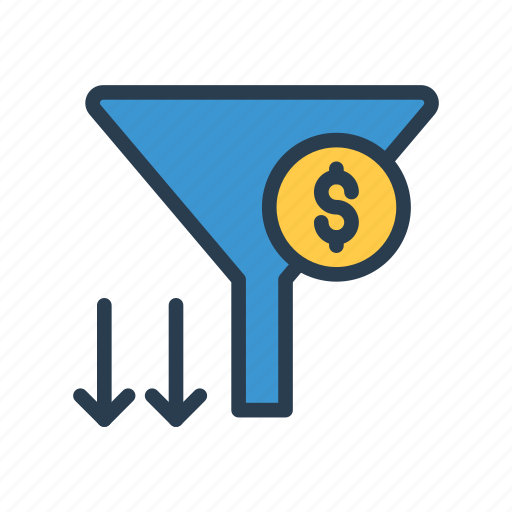cash, currency, dollar, filter, sort icon