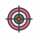 achivement, aim, focus, goal, target icon