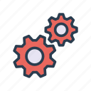 configuration, fix, gear, setting, tool icon