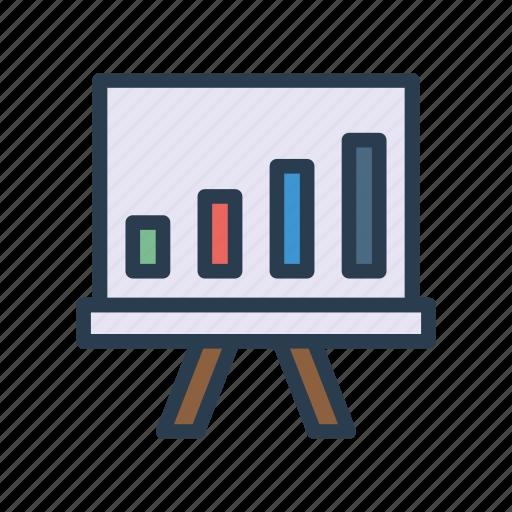 board, chart, finance, growth, presentation icon