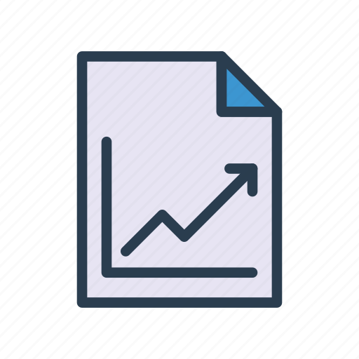 document, file, finance, growth, page icon
