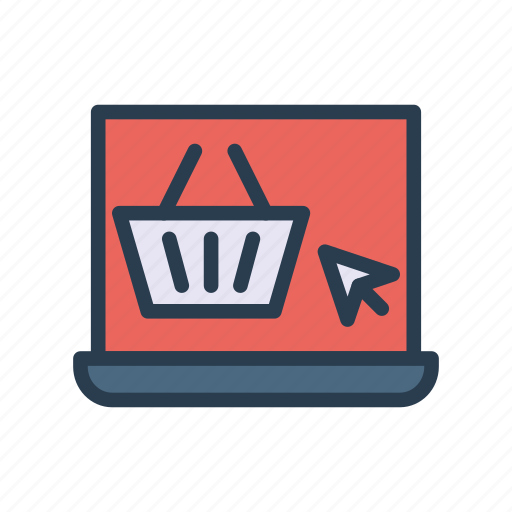 device, ecommerce, laptop, online, shopping icon