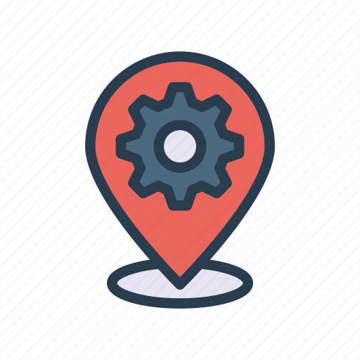 location, map, option, pointer, setting icon