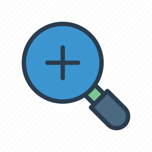 add, find, magnifier, search, zoom icon