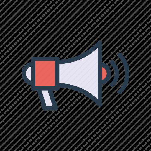 ads, announcement, marketing, megaphone, speaker icon