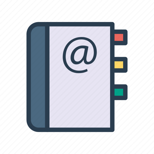 address, book, contacts, directory, message icon