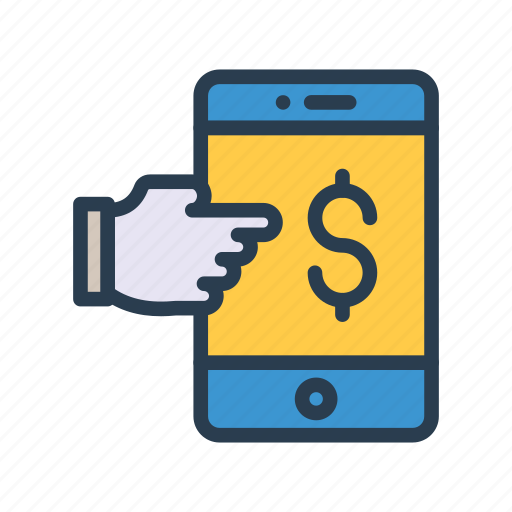 Device, dollar, hand, mobile, phone icon - Download on Iconfinder