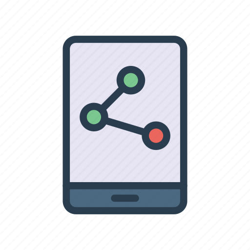 Device, mobile, network, phone, sharing icon - Download on Iconfinder