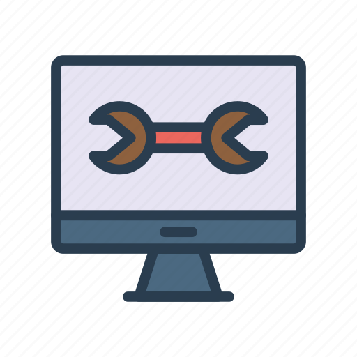 Gadget, monitor, screen, setting, wrench icon - Download on Iconfinder