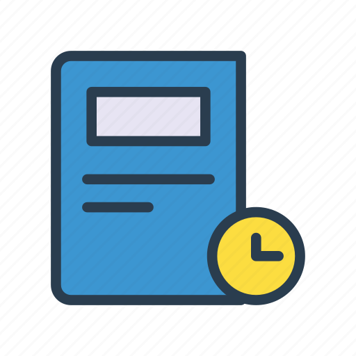 Article, clock, newspaper, press, schedule icon - Download on Iconfinder