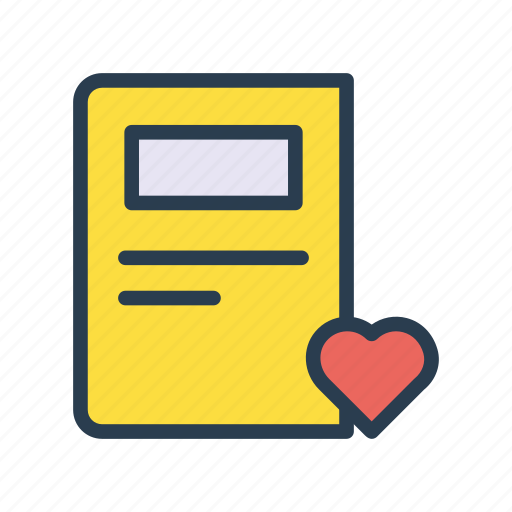 article, favorite, heart, like, newspaper icon