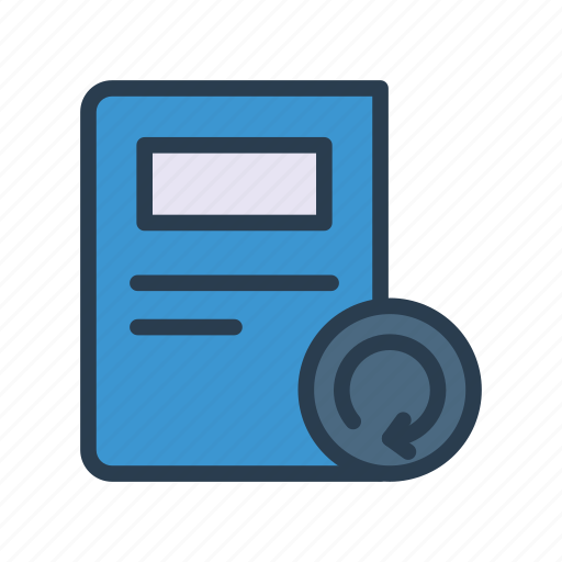 Article, newspaper, press, recycle, refresh icon - Download on Iconfinder