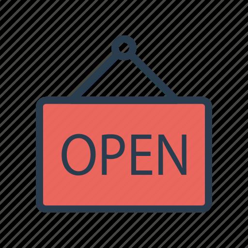 board, frame, hang, open, shop icon