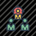 aim, focus, goal, organization, target icon