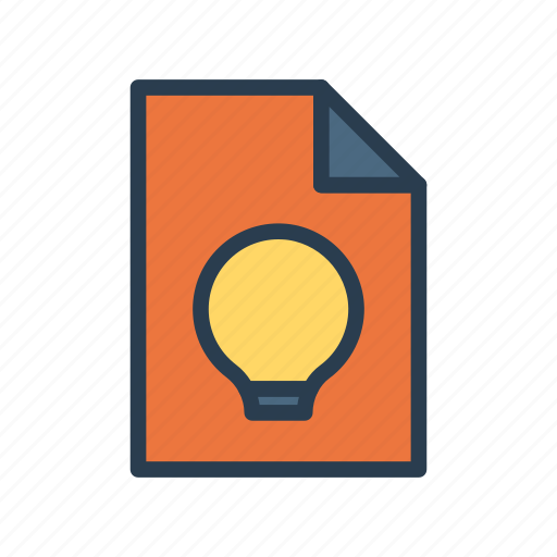 Bulb, document, idea, page, sheet icon - Download on Iconfinder