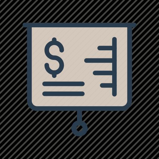 Board, chart, dollar, graph, presentation icon - Download on Iconfinder