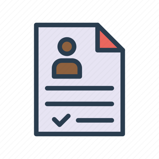Cv, docment, page, resume, sheet icon - Download on Iconfinder