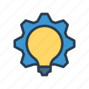 bulb, configuration, gear, idea, setting