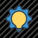 bulb, configuration, gear, idea, setting icon