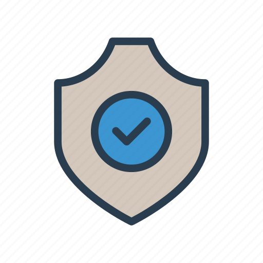 check, done, protection, security, shield icon