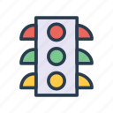 light, rules, sign, signal, traffic icon