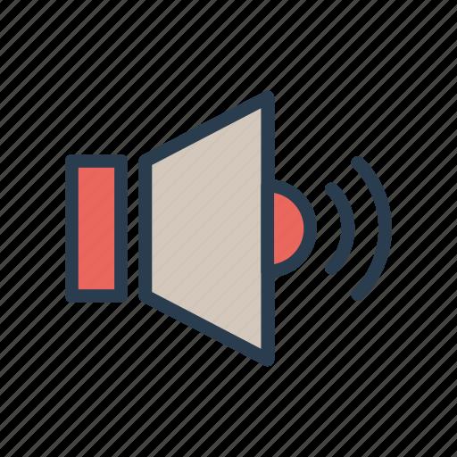high, loud, sound, speaker, volume icon