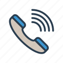 call, phone, receiver, services, support icon