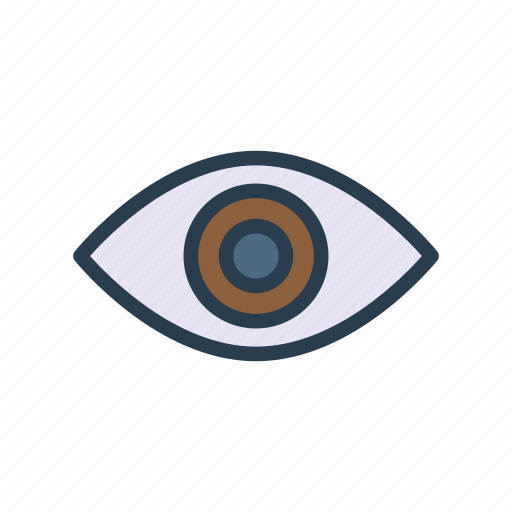 Eye, eyeball, look, see, view icon - Download on Iconfinder