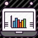 analytics, chart, laptop, statistics