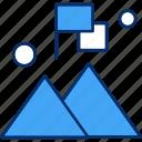 flag, mountain, success