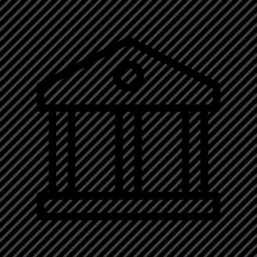 bank, building, court, finance, money icon