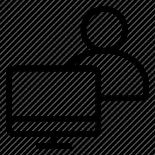 account, avatar, computeruser, online, person, profile, user icon